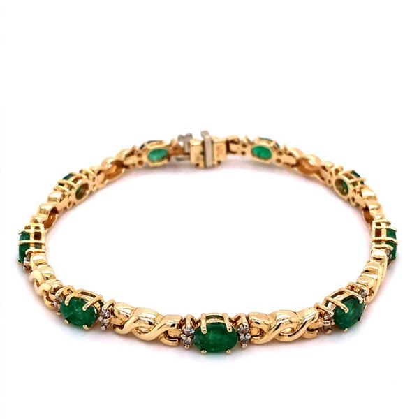 Estate Emerald & Diamond Bracelet Kiefer Jewelers Lutz, FL
