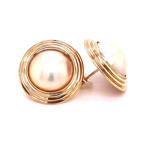 Estate 14K Button Pearl Earrings Kiefer Jewelers Lutz, FL