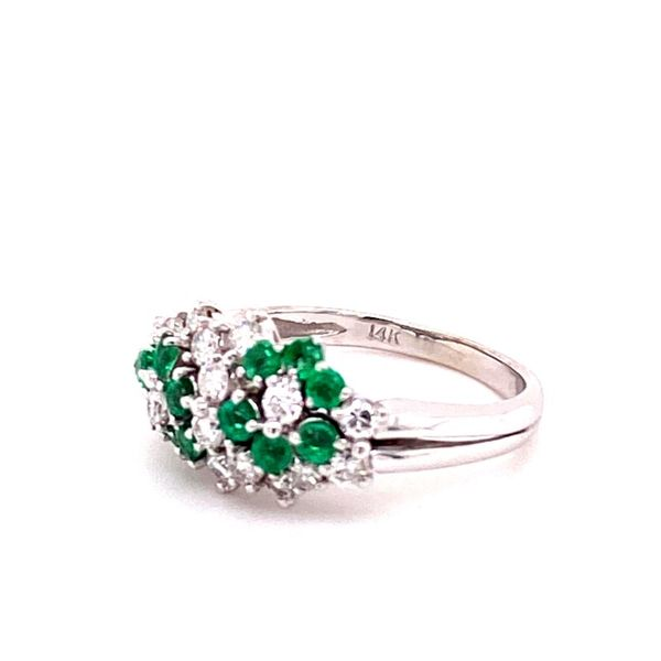 Estate Diamond & Emerald Ring Image 2 Kiefer Jewelers Lutz, FL