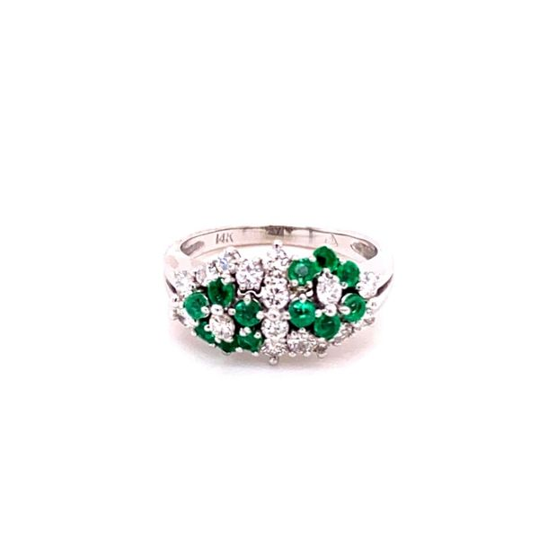 Estate Diamond & Emerald Ring Kiefer Jewelers Lutz, FL