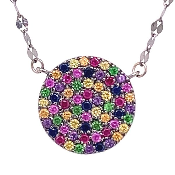 Estate Multi Sapphire Necklace Image 2 Kiefer Jewelers Lutz, FL