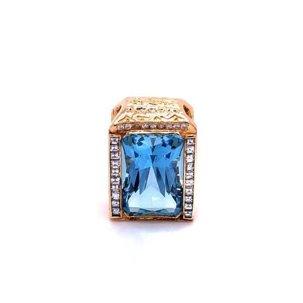 Estate Blue Topaz & Diamond Pendant Kiefer Jewelers Lutz, FL