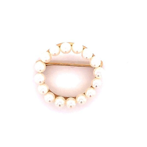 14K Pearl Circle Pin/Broach Kiefer Jewelers Lutz, FL