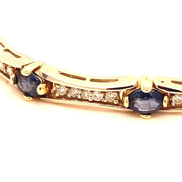 Estate Diamond & Sapphire Bracelet Image 2 Kiefer Jewelers Lutz, FL