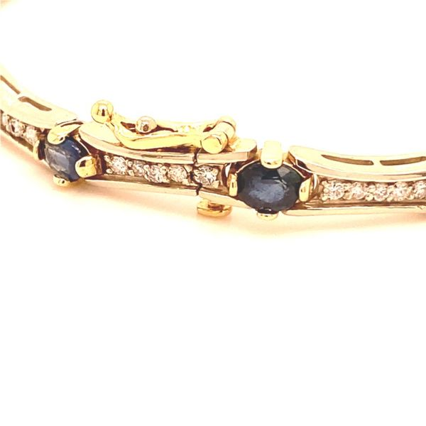 Estate Diamond & Sapphire Bracelet Image 3 Kiefer Jewelers Lutz, FL