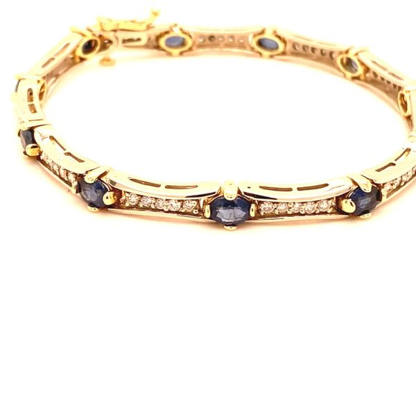 Estate Diamond & Sapphire Bracelet Kiefer Jewelers Lutz, FL