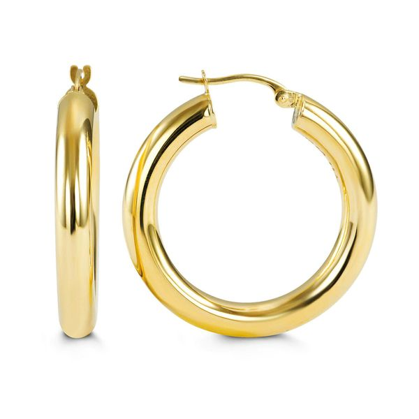 Bella Classic 10kt Yellow Gold Large Hoop Earrings La Mine d Or Moncton, NB