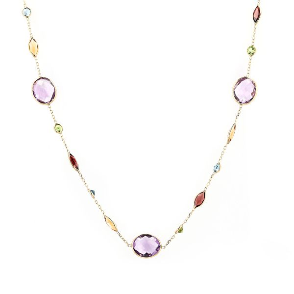 14kt Yellow Gold Necklace With Semi Precious Gemstones La Mine d'Or Moncton, NB