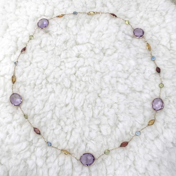 14kt Yellow Gold Necklace With Semi Precious Gemstones Image 3 La Mine d'Or Moncton, NB