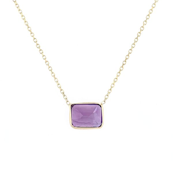 14kt Gold Emerald Cut Amethyst Necklace La Mine d'Or Moncton, NB