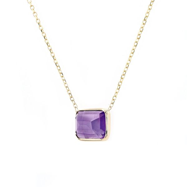 14kt Gold Emerald Cut Amethyst Necklace Image 2 La Mine d'Or Moncton, NB