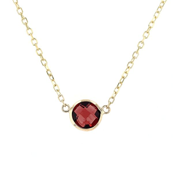 14kt Yellow Gold Necklace With Genuine Garnet Gemstone La Mine d Or Moncton, NB