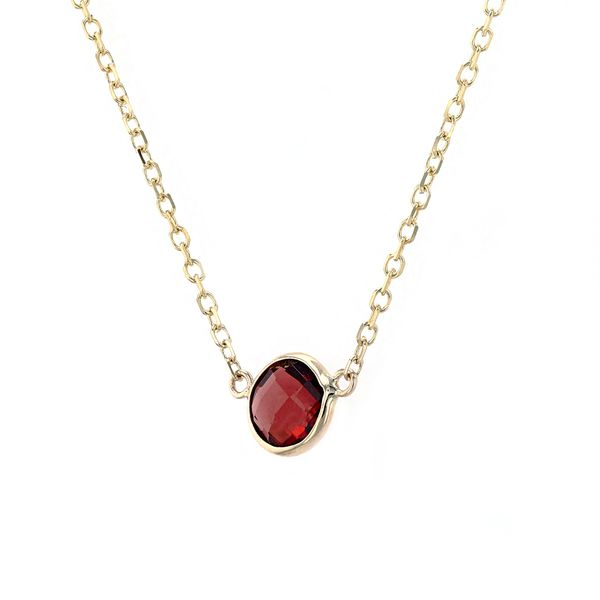 14kt Yellow Gold Necklace With Genuine Garnet Gemstone Image 2 La Mine d Or Moncton, NB