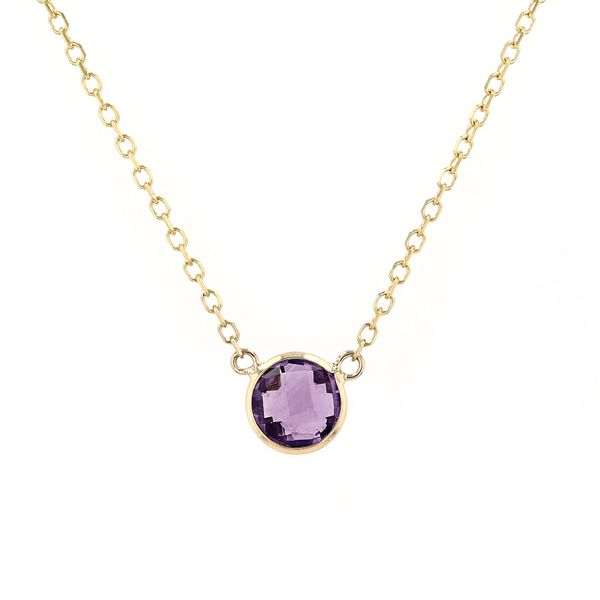 14kt Yellow Gold Necklace With Genuine Amethyst Gemstone La Mine d'Or Moncton, NB