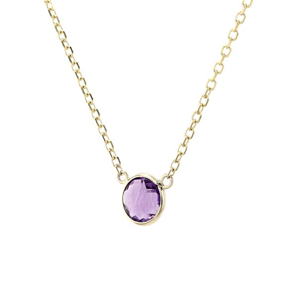 14kt Yellow Gold Necklace With Genuine Amethyst Gemstone Image 2 La Mine d'Or Moncton, NB