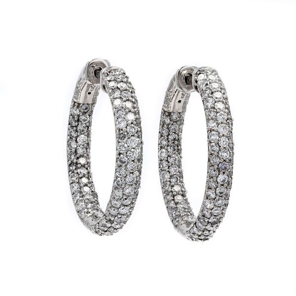 3.00tw Diamond In/Out Pave Hoop Earrings La Mine d'Or Moncton, NB
