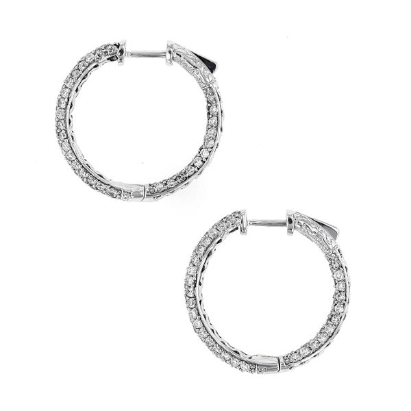 3.00tw Diamond In/Out Pave Hoop Earrings Image 2 La Mine d'Or Moncton, NB