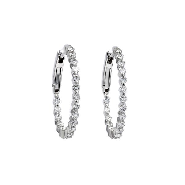 1.03tw Diamond In/Out Prong Hoop Earrings La Mine d Or Moncton, NB