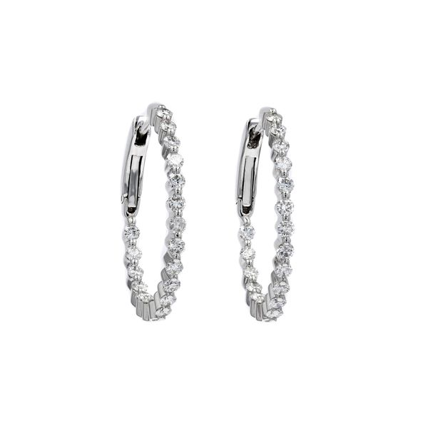 0.96tw Diamond In/Out Prong Hoop Earrings La Mine d'Or Moncton, NB
