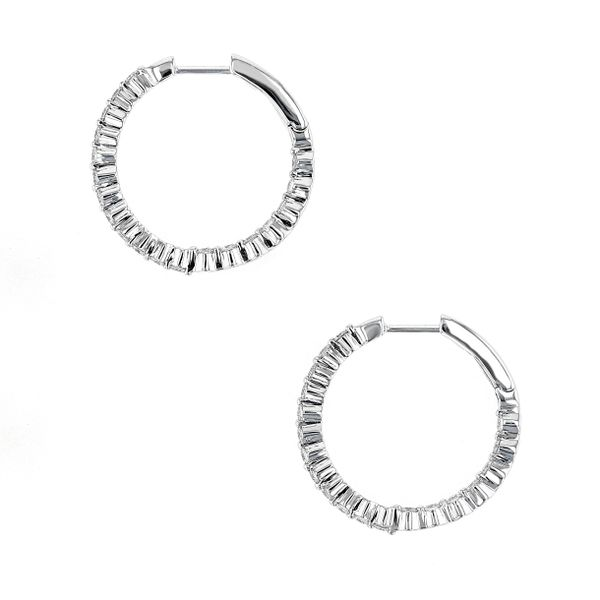 0.96tw Diamond In/Out Prong Hoop Earrings Image 2 La Mine d'Or Moncton, NB
