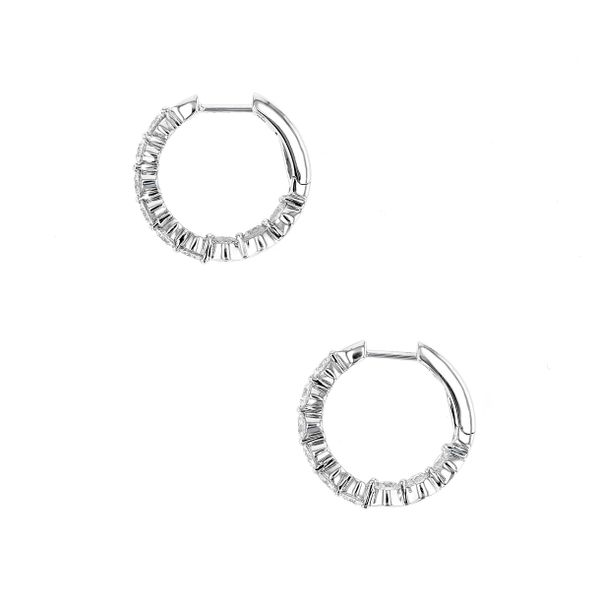 1.53tw Diamond In/Out Prong Hoop Earrings Image 2 La Mine d'Or Moncton, NB