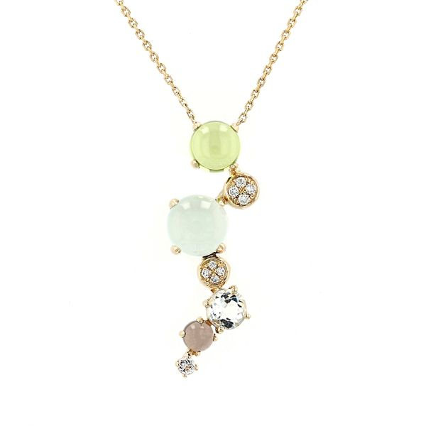 2.30tw Mixed Gemstone & Diamond Necklace La Mine d'Or Moncton, NB