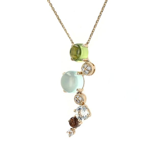 2.30tw Mixed Gemstone & Diamond Necklace Image 2 La Mine d'Or Moncton, NB