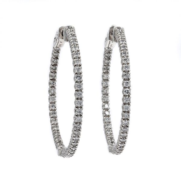 1.51tw Diamond In/Out Hoop Earrings La Mine d Or Moncton, NB