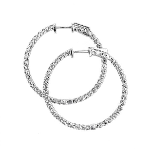 1.51tw Diamond In/Out Hoop Earrings Image 2 La Mine d Or Moncton, NB