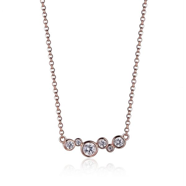 "Elle Design ""Bubble"" Collection STG and Rose Gold Plated Horizontal Necklace La Mine d'Or Moncton, NB"