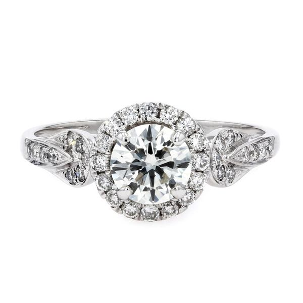 1.03tw UTwo Halo Style Diamond Engagement Ring La Mine d'Or Moncton, NB