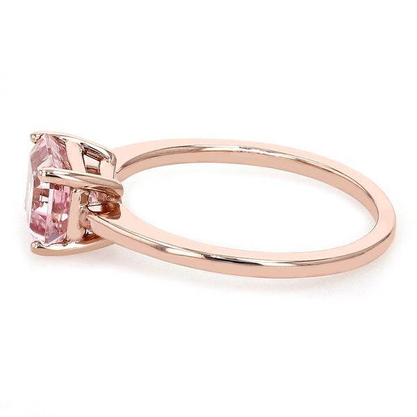 1.40ct Emerald Cut Morganite East-West Solitaire Ring Image 2 La Mine d'Or Moncton, NB