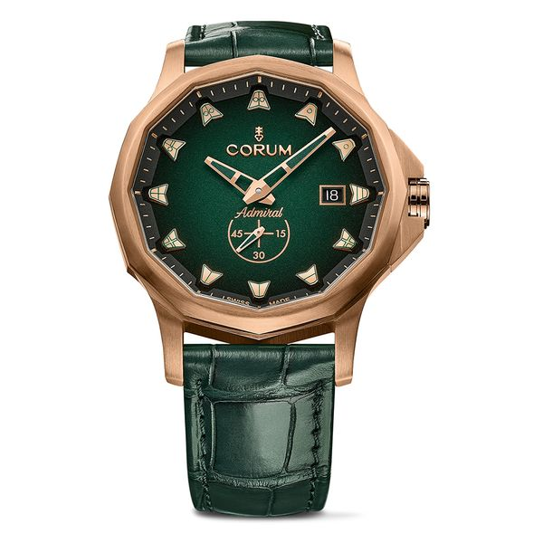 Corum Admiral 42 Automatic with Green Dial and Alligator Strap La Mine d Or Moncton, NB