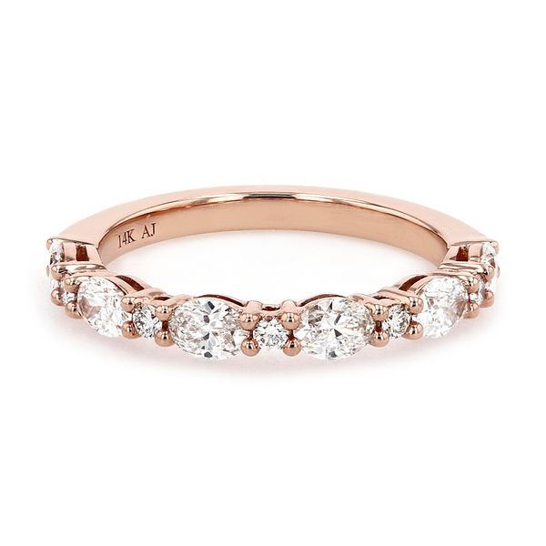 0.93tw Classic Oval and Round Diamond Band 14kt Rose Gold La Mine d Or Moncton, NB