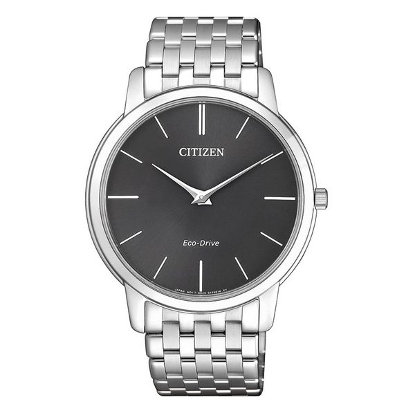 Citizen Eco-Drive Stainless Steel Watch with Round Black Dial La Mine d'Or Moncton, NB
