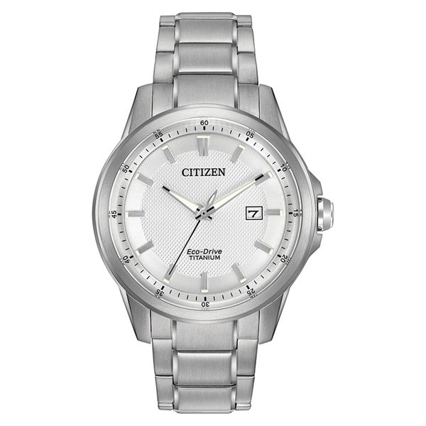 Citizen Eco-Drive Titanium Watch with Round Silver Dial La Mine d'Or Moncton, NB