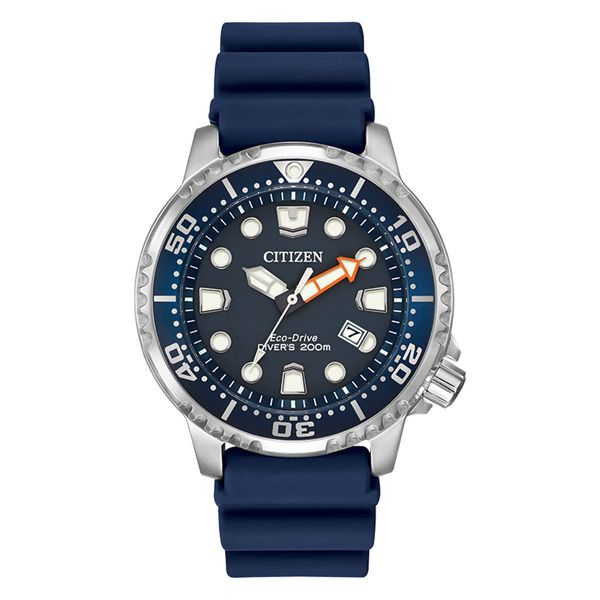 Citizen Eco-Drive Stainless Steel ProMaster Divers Watch with Blue Dial and Strap La Mine d'Or Moncton, NB