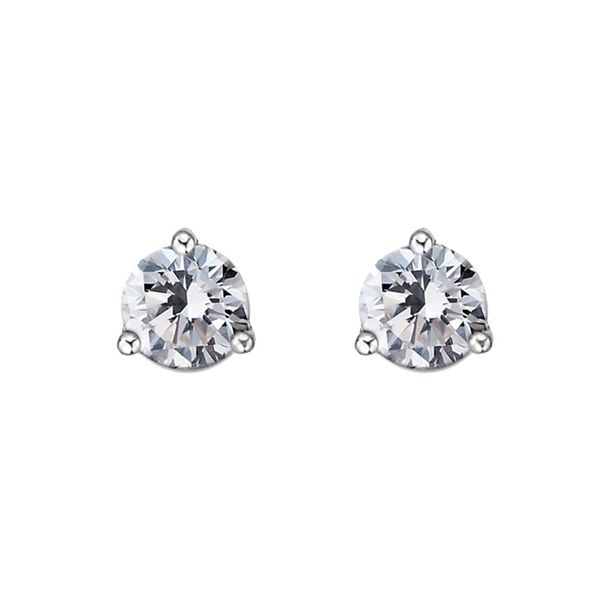 5mm Round White Topaz Stud Earrings La Mine d Or Moncton, NB
