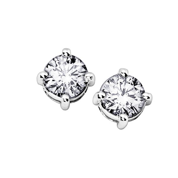 0.50ct Lumina Round Diamond Stud Earrings Image 2 La Mine d Or Moncton, NB