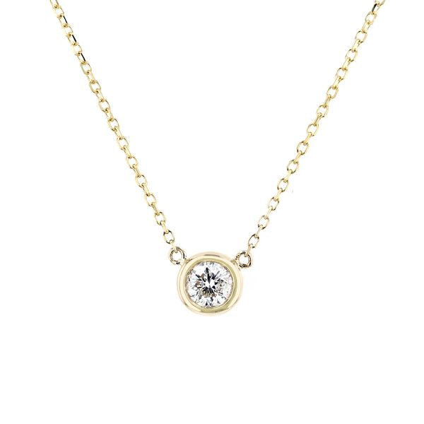 0.21ct Diamond Solitaire Necklace in 14kt Yellow Gold La Mine d'Or Moncton, NB