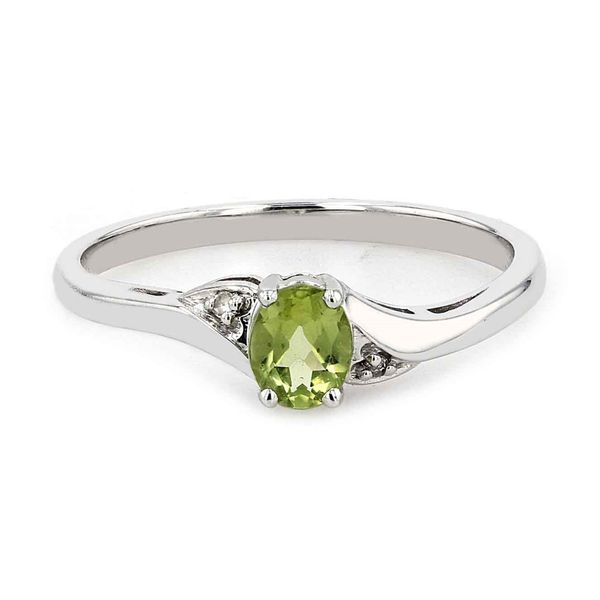 Genuine Peridot Birthstone & Diamond Ring La Mine d Or Moncton, NB