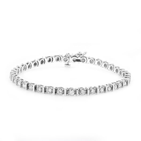 1.50tw Classic Diamond Tennis Bracelet 10kt White Gold La Mine d Or Moncton, NB