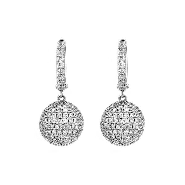 2.60tw Diamond Drop Ball Earrings La Mine d Or Moncton, NB