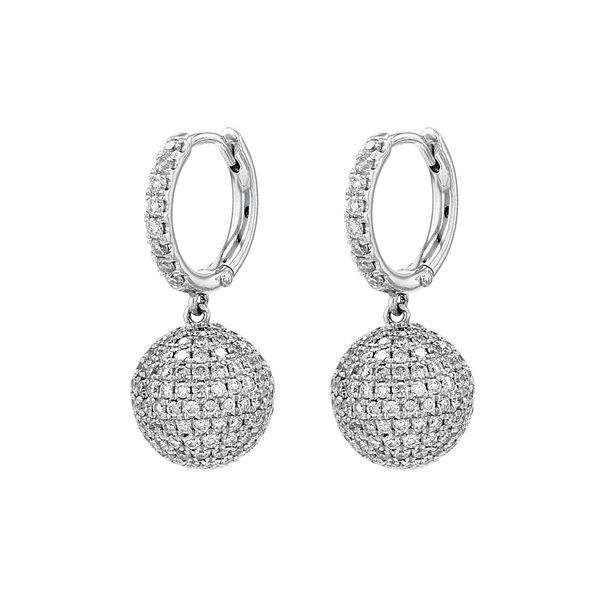 2.60tw Diamond Drop Ball Earrings Image 2 La Mine d Or Moncton, NB