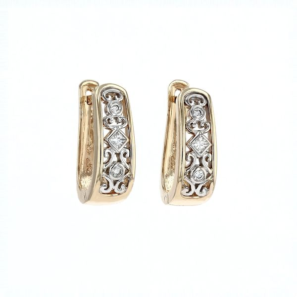 0.20tw Diamond Designed Hoop Earrings La Mine d'Or Moncton, NB