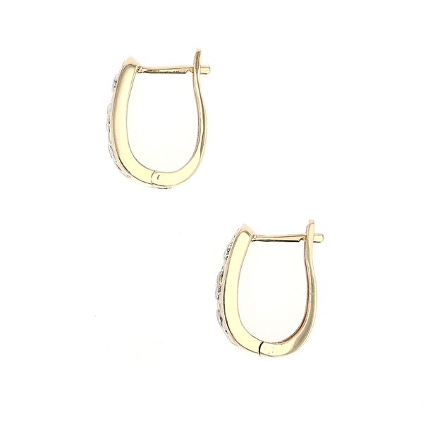 0.20tw Diamond Designed Hoop Earrings Image 2 La Mine d'Or Moncton, NB