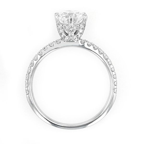 1.69tw Forevermark Black Label Oval with Hidden Halo Diamond Engagement Ring Image 3 La Mine d'Or Moncton, NB