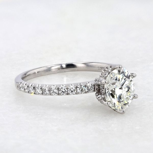 1.69tw Forevermark Black Label Oval with Hidden Halo Diamond Engagement Ring Image 4 La Mine d'Or Moncton, NB