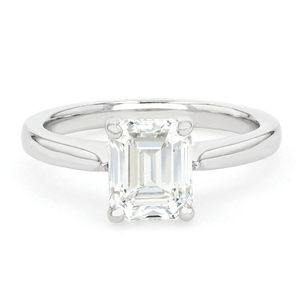 2.04ct Forevermark Emerald Cut Diamond Solitaire Engagement Ring La Mine d Or Moncton, NB