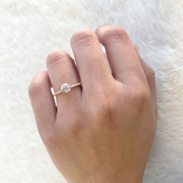 0.84tw Forevermark Round Diamond Solitaire Engagement Ring Image 4 La Mine d Or Moncton, NB